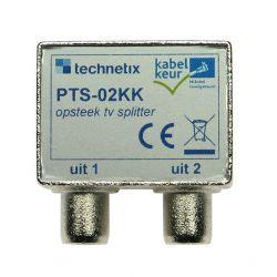 Technetix PTS-02KK TV splitter with cable approval