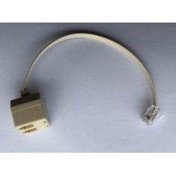 Q-link telephone splitter RJ11, 2-pole white