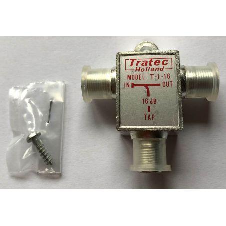 Tratec T-1-16 CAI 1-way tap, 1 x 16 dB