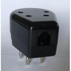 Telephone plug RJ11 6p4c Female - PTT / KPN Male, Black, NL
