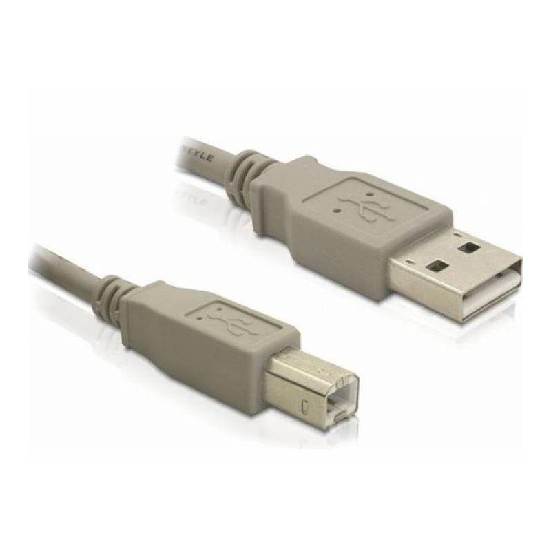USB 2.0 - Connection cable type A / B - 3 meters gray