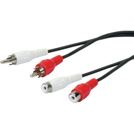 Schwaiger CIK 115 - 053 AUDIO Extension cable 2 CINCH Male to 2 CINCH Female - 1.5 m