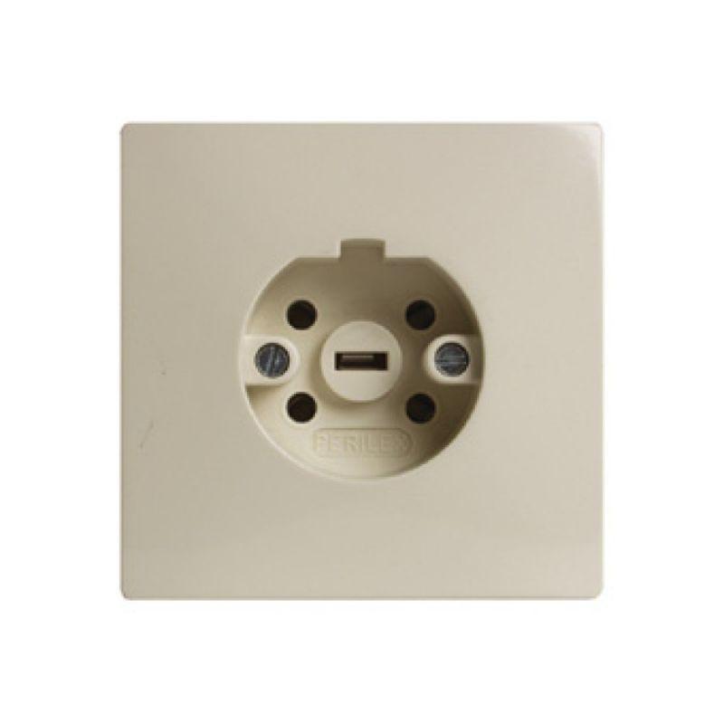 Perilex stopcontact inbouw creme 16A