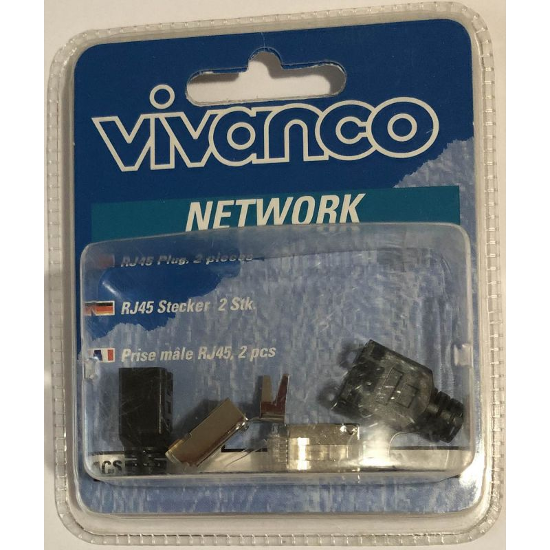 Vivanco CS 45/2 13291 Shielded RJ45 network connector - 2 pcs.