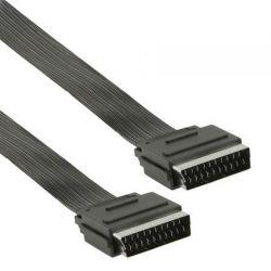 Platte Scart Kabel 1.5 meter (Zwart)