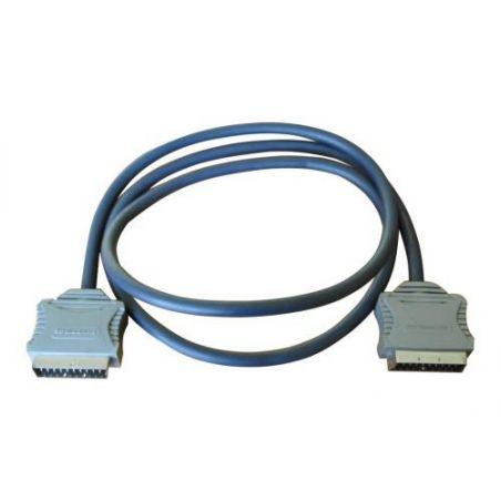 Bandridge SCART-kabel 1,5 m SCART (21-pin) Grijs
