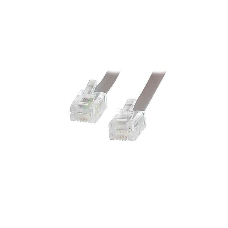 2 meter ADSL cable RJ11 - Color gray