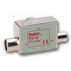 Tratec splitter TOF-02KK with 1 output for TV and 1 output for radio