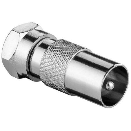 Antenna Adapter F-Male Coax Male (IEC) Silver