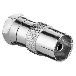Profile PMU664 Antenna Adapter F-Male Coax Female (IEC) Silver