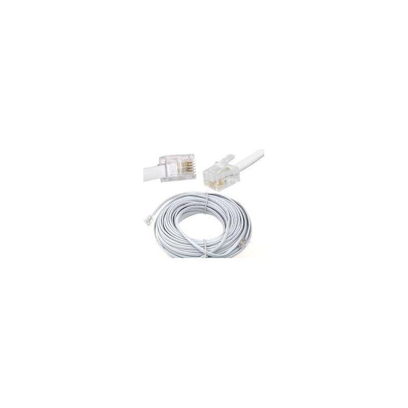 5 meter adsl kabel rj11 - kleur wit