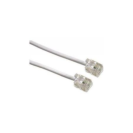 5 Meter ADSL Kabel rj11- Farbe weiß