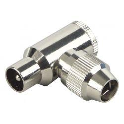 Alecto (Male) - Angled Coax plug - Metal